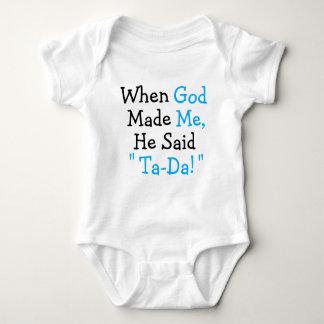 """Body Para Bebê Quando o deus me fez disse a """"Ta-Dinamarca! """""""