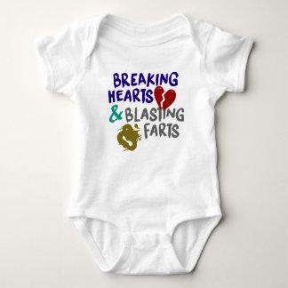 Body Para Bebê Quebrando o sopro dos corações Farts Bodysuit