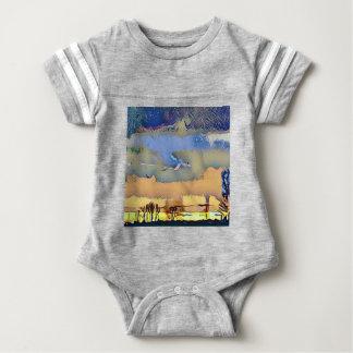 Body Para Bebê Queda clara colorida céu abstrato tonificado do