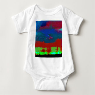 Body Para Bebê Queda colorida céu abstrato tonificado do