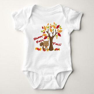 Body Para Bebê Queda feliz dos bichos da floresta você