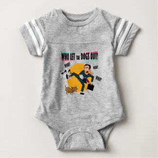 Body Para Bebê Quem deixou os cães para fora!