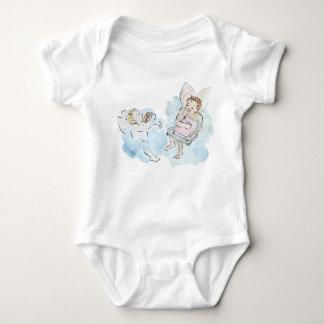 Body Para Bebê Querubim - anjinhos