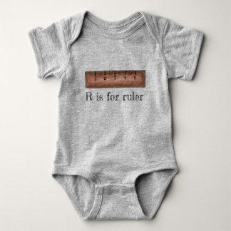 Body Para Bebê R é para a escola ABCs da classe da matemática da