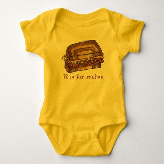 Body Para Bebê R é para a inicial do alfabeto de Foodie do