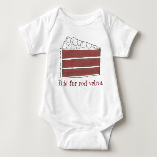Body Para Bebê R é para a letra vermelha R Foodie da fatia do