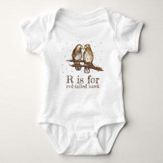 Body Para Bebê R é para o pássaro do amor do falcão Vermelho-Atar
