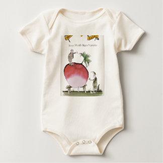 Body Para Bebê Rabanete grande de Yorkshire do amor