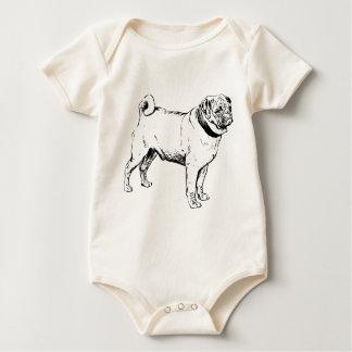 Body Para Bebê Raça do cão do Pug
