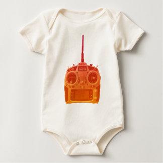 Body Para Bebê Rádio alaranjado/vermelho do estilo de Miami de