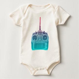 Body Para Bebê Rádio azul/cor-de-rosa do estilo de Miami de