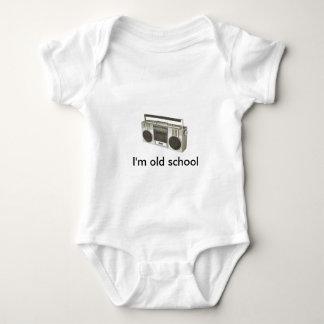 Body Para Bebê rádio velho, eu sou velha escola