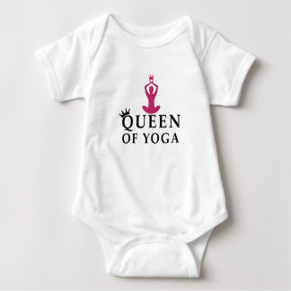 Body Para Bebê rainha da coroa da ioga