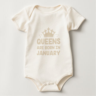 Body Para Bebê Rainha de janeiro