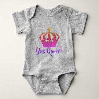 Body Para Bebê Rainha de Yas!  Estilo do bebê da cor do arco-íris