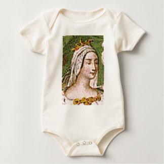 Body Para Bebê rainha justa pálida
