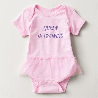 Body Para Bebê Rainha no Bodysuit da criança do treinamento