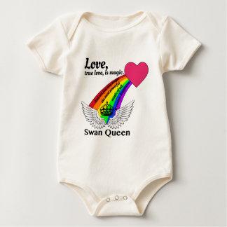 Body Para Bebê Rainha verdadeira da cisne do amor