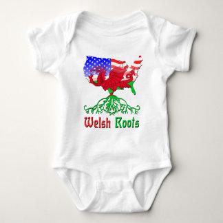 Body Para Bebê Raizes de Galês do americano