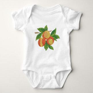 Body Para Bebê ramo do pêssego, imitação do bordado