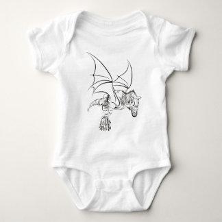 Body Para Bebê Raptor/tribal voados