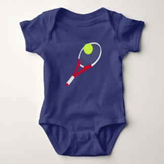 Body Para Bebê Raquete de tênis e bola de tênis
