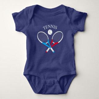 Body Para Bebê Raquetes de tênis e bola de tênis