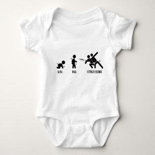 Body Para Bebê Rastejamento. Caminhada. Frisbee final