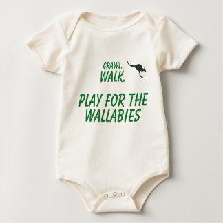 Body Para Bebê Rastejamento, caminhada, jogo para os Wallabies