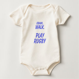 Body Para Bebê Rastejamento, caminhada, rugby do jogo
