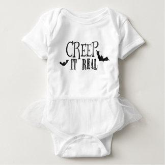 Body Para Bebê Rastejamento ele o Dia das Bruxas real