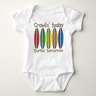 Body Para Bebê Rastejamento hoje surfando amanhã