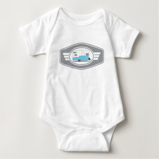 Body Para Bebê Reboque de Shasta do vintage