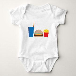 Body Para Bebê refeição do fast food