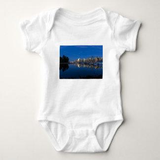 Body Para Bebê Reflexão azul da hora de Vancôver BC