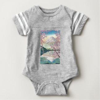 Body Para Bebê Refrigere a arte oriental da árvore de cereja do