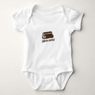 Body Para Bebê Registros de Illinois de Lincoln