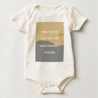 Body Para Bebê Regras da manteiga de amendoim