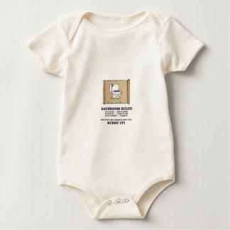 Body Para Bebê regras do banheiro do rolo