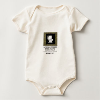Body Para Bebê regras escuras do banheiro