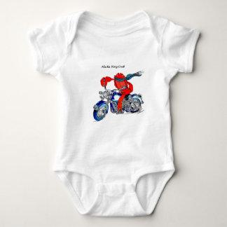 Body Para Bebê Rei caranguejo de Alaska na motocicleta