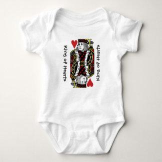 Body Para Bebê Rei da roupa do bebê do design dos corações
