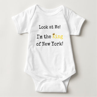 Body Para Bebê Rei do Bodysuit do bebê de New York