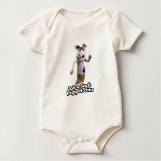 Body Para Bebê Remenda as ondas do fantoche da peúga olá!