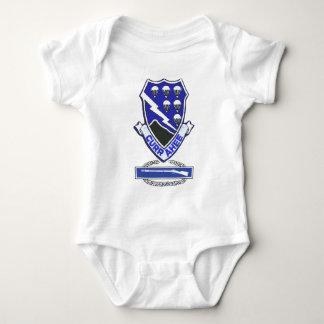 Body Para Bebê Remendo de Currahee & crachá de infantaria de