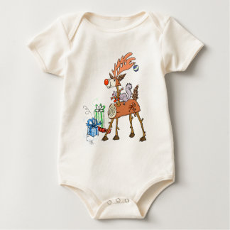 Body Para Bebê Rena da vara
