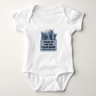 Body Para Bebê Represente acima os ursos polares
