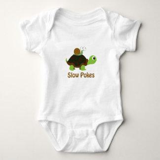 Body Para Bebê Retarde puxões tartaruga bonito e caracol