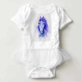 Body Para Bebê Retrato abstrato do cavalo da aguarela