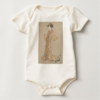 Body Para Bebê Retrato do ator Nakamura Yasio como um Oiran